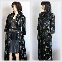VTG asiatischen Tunika Mantel Floral Mantel Print von EventOutlet