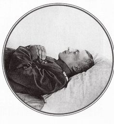 Prince Oleg Konstantinovich Romanov of Russia,the only member of the Imperial family to die of wounds he suffered in battle during the World War I, lying in state.