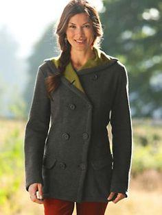 Women's Wool/Fleece Pea Coat   Sahalie $129.98 (sale $69.97)