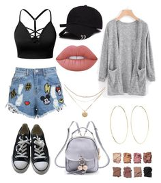 """Untitled #129"" by fashionstyleideas4now on Polyvore featuring J.TOMSON, Disney Stars Studios, Converse, WithChic, Magda Butrym, Illamasqua and Lime Crime"
