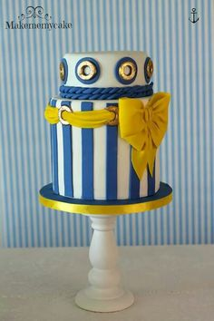 Nautical theme cake by Makememycake.