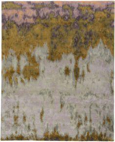 Une certaine idee du luxe avec ce tapis Ephemera en soie par Tai Ping de la collection Anthology