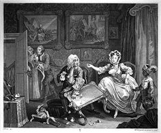 William Hogarth (1732) A Harlot's Progress Plate II, The Harlot Deceiving her Jewish Protector