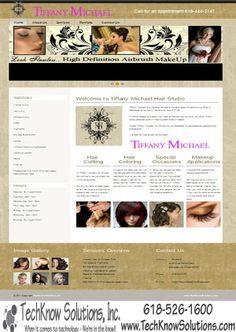 Tiffany Michael Hair Studio Website #techknowsolutions