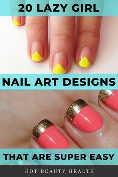 Heres a curated list of 20 simple nail art designs for beginners. These cute diy nail ideas are so easy that any nail newbie can do them! Click pin for step by step tutorials! Beginner Nail Designs, Nail Art For Beginners, Simple Nail Art Designs, Cute Nail Designs, Diy Nail Designs Step By Step, Beginner Nail Art, Nail Art Hacks, Nail Art Diy, Easy Nail Art