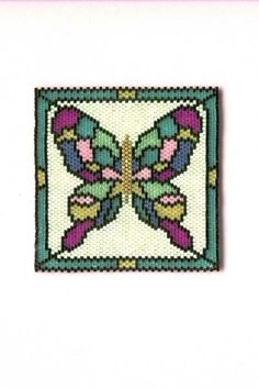 """""""Flutterby"""" Night Light by Beaded Linda Thompson-Mills -- Northern California (pattern by Suzanne Cooper - colors all my own)"""