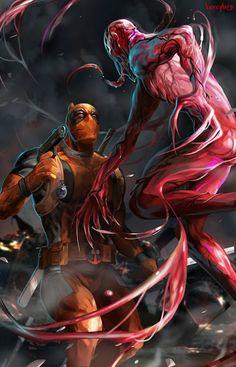 Deadpool Vs. Carnage... OooooooOOooooo... I likes Carnage ouo -Will