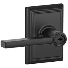 Ordinaire Buy The Schlage Matte Black Direct. Shop For The Schlage Matte Black  Latitude Reversible Passage Door Leverset With Decorative Addison Rose And  Save.