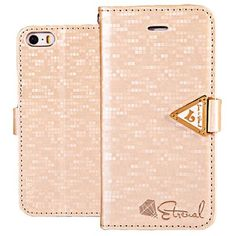 Leiers Eternal Series PC + PU Stand Case with Card Holder for iPhone 5 / 5S (CHAMPAGNE) | Everbuying Mobile