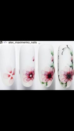 Water Color Nails, Water Nails, Nail Art Designs Videos, Nail Designs, Fancy Nails, Pretty Nails, Chrismas Nail Art, Peacock Nail Art, Almond Nails Designs Summer