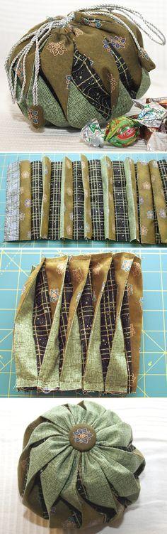 Omiyage Bag  Photo Tutorial. Craft Idea. Step by step DIY.   http://www.handmadiya.com/2015/12/omiyage-bag-tutorial.html