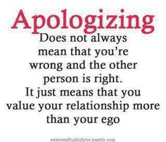 My idea of an apology.