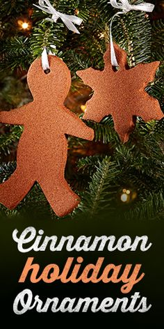Make your home smell like Christmas with these easy to make Cinnamon Ornaments #DIY #crafting #Xmas