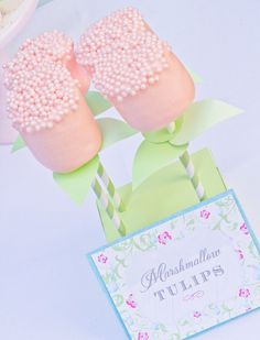 Chocolate Dipped Marshmallow Tulips Frost The Cake by FrosttheCake, $12.00