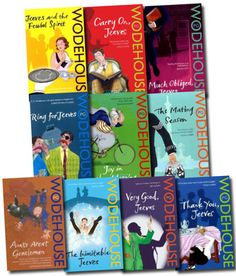 Jeeves and Wooster Series Collection PG Wodehouse 10 Books Set Pack Bundle