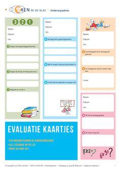 evaluaties kaartjes voor vragen voer school Downloads - ZIEN in de Klas