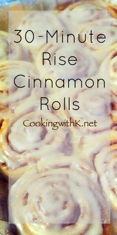 Homemade Cinnamon Rolls that will make you get up in the morning. Homemade Cinnamon Rolls, take only 30 minutes to rise. Bake for 15 minutes and they are ready to eat. Don't forget to drizzle lavishly with pow… Pioneer Woman Cinnamon Rolls, No Yeast Cinnamon Rolls, Easy Homemade Cinnamon Rolls, Pancakes Cinnamon, Overnight Cinnamon Rolls, Cinnamon Roll Icing, Cinnamon Desserts, Homemade Rolls, Homemade Breads