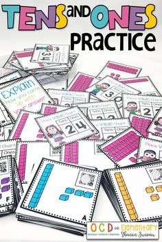 This is great for extra practice with matching place value to tens and ones. You can use during centers, guided math groups, or independent work. 1st Grade Math, Kindergarten Math, Teaching Math, Teaching Skills, Grade 1, Teaching Ideas, Math Place Value, Place Values, Math Stations