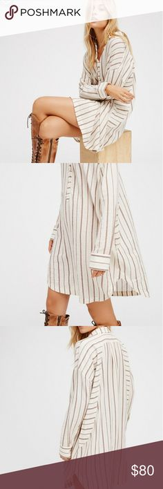 Free People All This Beauty Long Sleeve Color: Ivory (new without tags) Free People Dresses Long Sleeve