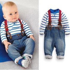 Encontre mais Conjuntos Informações sobre Conjunto de roupas de bebê meninos…