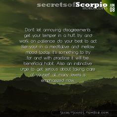 Scorpio Horoscope. Hey Scorpio, follow us for horoscopes every day!
