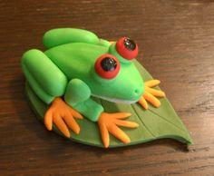 Tree Frog cake topper https://www.etsy.com/shop/PfisherDesign