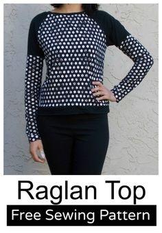 gratis download raglan shirt http://www.onthecuttingfloor.com/free-sewing-pattern-long-sleeve-raglan-top/