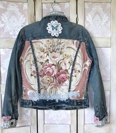 Rustic Trendy Magnolia Ashwell Jean Jacket Shabby Chic Street Style Oversized Distressed Indigo Bleau Beauty by IzzyRoo on Etsy