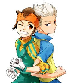 Endou Mamoru and Gouenji Shuuya Anime Guys, Manga Anime, Anime Art, Inazuma Eleven Axel, Evans, Shugo Chara, Epic Art, Cartoon Games, Kawaii