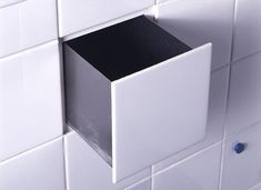 *Storage Tips* I really like my secrets. Hiding spots I like even more. Here are 22 hiding places you can make inside your own house. Small Bathroom Tiles, Bathroom Storage, Small Bathrooms, Bathroom Drawers, Wall Storage, Bathroom Wall, Kitchen Storage, Shower Storage, Bathroom Hacks