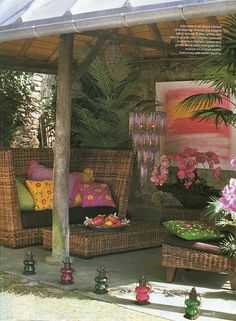 bohemian porch I love this chair... need that on our lanai