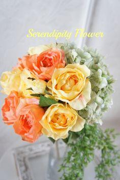 Serendipity Flower(セレンディピティフラワー) 海外挙式のお客様*ビタミンカラーウェディングブーケ♡