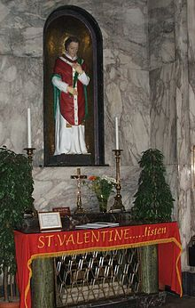Saint Valentine - Shrine of St. Valentine in Whitefriar Street Carmelite Church in Dublin, Ireland