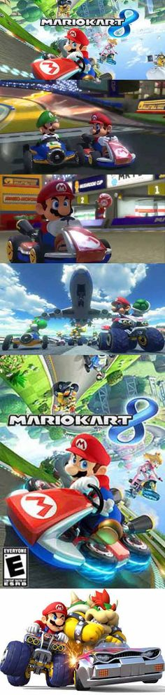 Racing is fun again on the Nintendo WiiU and Virtual Console! Mario Kart 8, Wii U, Gamer News, Nintendo, Super Mario Bros, Luigi, Game Art, Happiness, Racing