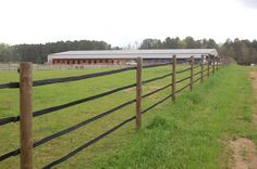 Rubber Fencing has been used for more than 40 years and provides an economic al and durable alternative for your prized animal containment. In this picture 2 in. material was used on the road...