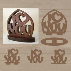 Amo corazón te patrón SVG