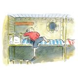 BUNK-BED AT SEA  Paper: 21 x 29.7cm Giclee print on 310gsm, 100%cotton rag paper. Numbered edition of /950 Watercolour and ink. From Ardizzone's classic picture book Little Tim and the Brave Sea Captain, 1955. By Edward Ardizzone https://twitter.com/Kings_Framers https://www.facebook.com/pages/Kings-Framers/194627007259457?ref=hl