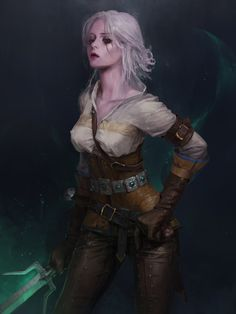 Ciri – The Witcher 3 fan art by Park Pyeongjun Ciri Witcher, Witcher Art, The Witcher 3, Fantasy Women, Fantasy Girl, Character Portraits, Character Art, Fantasy Characters, Female Characters