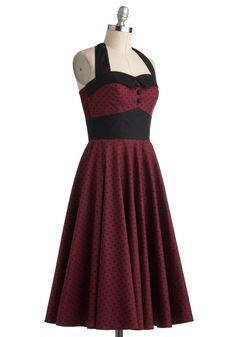 Budding Starlet Dress in Dots | Mod Retro Vintage Dresses | ModCloth.com