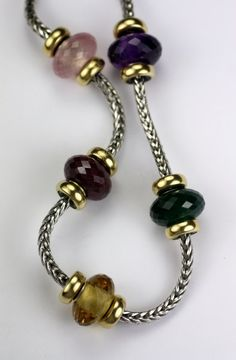 Trollbeads Gallery Station Necklace with  Stones