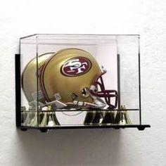 Deluxe Acrylic Mini Football Helmet Display Case - Wall Mountable Z157-AD46
