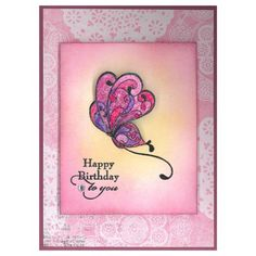Stamp-it Australia: 4852E Butterfly Curl, 4644C Birthday to You - Card by Steph