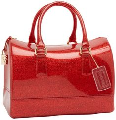 MINE! LOVE    Furla Candy S Bauletto Satchel,Rosso Glam,One Size $228 #Handbags  #Apparel  #FURLA