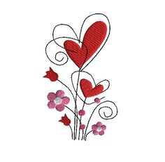 Beautiful for pillowcases, kitchen linens, blankets, pillows and more. Embroidery Files, Machine Embroidery Designs, Stitch 2, Original Artwork, Applique, Valentines, Handmade Gifts, Kitchen Linens, Floral