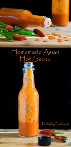 Homemade Asian Hot Sauce with Thai Peppers - Fox Valley Foodie Hot Pepper Recipes, Hot Sauce Recipes, Tuna Recipes, Cooking Recipes, Healthy Recipes, Thai Hot Sauce Recipe, Healthy Food, Spicy Sauce, Healthy Drinks