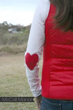 Valentine's {Heart} Shirt   a Silhouette fabric Project - McCall Manor