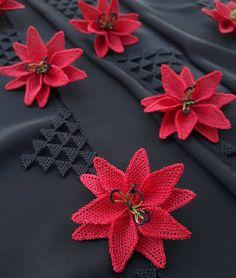 Thread Art, Needle And Thread, Crochet Borders, Stitch, Crafts, Jewelry, Needlepoint, Flowers, Crochet Edgings
