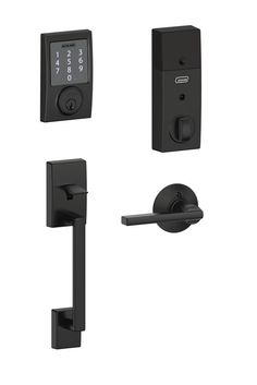 The on-trend matte black finish of this smart lock makes it as attractive as it is advanced. Open the locked door using the touchscreen, your smartphone or a key. You'll have unparalleled control over who can enter your home and when.