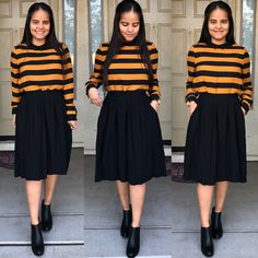 Mustard yellow and black