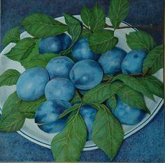 "Saatchi Online Artist: Elsa Jacob Moosbrugger; ""Plums"""